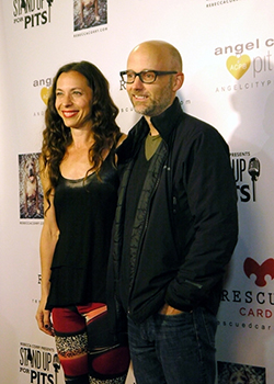 """Pet World Insider """" On the Red Carpet"""" – Moby at StandUpForPits.US Foundation Event in Los Angeles"""